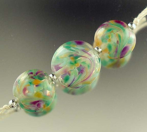 Trellis, Lentil Lampwork Set, Made to Order SRA