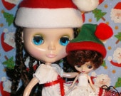 SANTA and ELF HATS for Blythe and Petites. GET THEM WHILE THEY LAST.