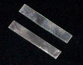 Sterling Silver Tags - 22 Gauge, Stamping blank, Metal Stamping, Sterling Silver Bar Blanks, Rectangular Blanks