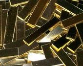 Brass Tags - 22 gauge, stamping blanks, metal blanks, stamping tag, stamping bar, metal stamping strip, Bopper, stamping supplies, bar blank