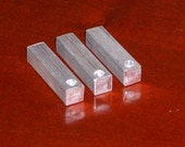 "Aluminum 1/4"" Square Bars, stamping blanks, metal blanks, aluminum bar blanks, hypo-allergenic, food safe"