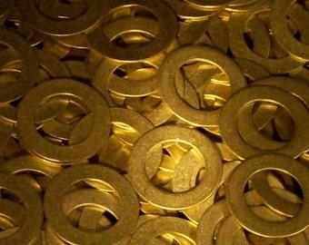 Brass Washers - 20 gauge, stamping blanks, metal blanks, washer blanks