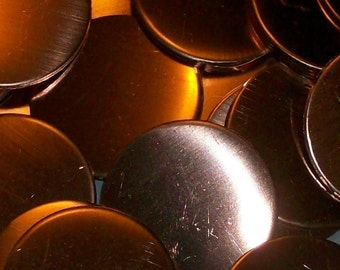 Copper Discs - 18 gauge, Stamping blanks, metal stamping blanks, copper rounds, copper discs, copper disks, copper hand stamping blanks