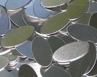 Aluminum  Ovals - 20 Gauge, stamping blanks, metal blanks, oval blanks, hypo-allergenic blanks, food safe blanks