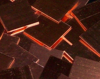 Copper Squares - 16 Gauge, Stamping Blanks, Tags, Sheet, Metal Blanks, Metal Jewelry Supply