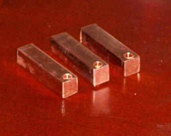 "Copper 1/4"" Square Bars, stamping blanks, metal stamping bar, copper bar, Bopper, stamping supplies"