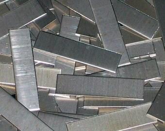 Nickel Silver Tags - 16 Gauge, stamping blanks, metal tags, rectangular blanks, nickel silver strips, nickel silver sheet strips, Bopper