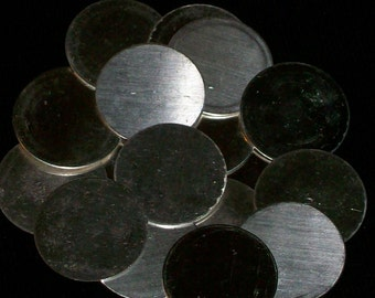 Sterling Silver Discs - 22 Gauge, stamping blanks, metal blanks, stamping supply, disks, metal stamping rounds, Bopper, stamping supplies