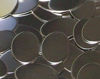 Nickel Silver Ovals - 18 Gauge, stamping blanks, metal blanks, nickel silver oval, silver substitute, 18 gauge blanks, Bopper, hand stamping