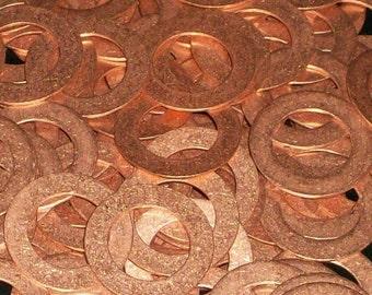 Copper Washers - 20 Gauge, stamping blank, metal stamping blanks, copper rounds, Bopper, washer blanks copper hand stamping blanks