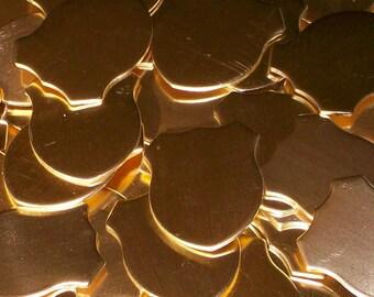 Nu-Gold Shield 1 x 1 1/4 x 18 ga - Qty 3,stamping blanks, dog blanks, metal blanks, Bopper, etching blanks, embossing blanks, supplies