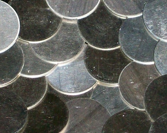 Sterling Silver Discs - 24 Gauge, stamping blanks, metal blanks, stamping supply, disks, metal stamping rounds, Bopper, stamping supplies