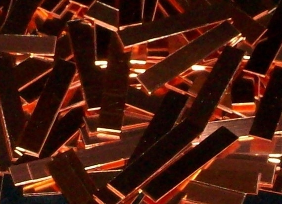 Copper Rectangles 1/4 x 1 x  22 Gauge - Qty 16