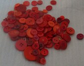 Large Lot of  Red Buttons