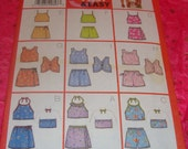 Butterick Pattern - Size 6-8 Little Girl Summer Clothes