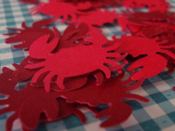 30 DieCut Paper Crabs