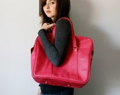 VINTAGE Dark Berry Pink TOTE Travel Bag LUGGAGE Pick Your Poison