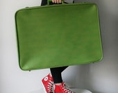 VINTAGE Lime Green SUITCASE Luggage Pick Your Poison