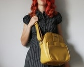 VINTAGE Mustard Yellow Messenger or Camera Bag LUGGAGE Pick Your Poison