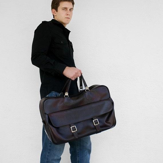 Custom order for 1 of 2 payments for dustfox VINTAGE Deep Dark Merlot TOTE Bag Weekender with Silver Buckles LUGGAGE