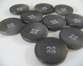 10 larger japanese vintage 23mm buttons - 4 holes