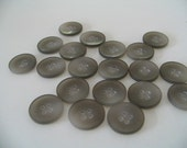 japanese vintage warm grey buttons 18mm - 20 no. x 4 holes