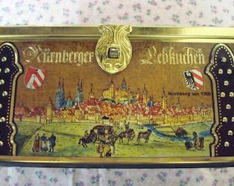 Little German Treasure Chest Tin