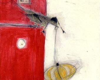 Bird Collage Painting - 61