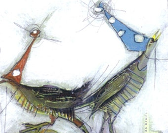 Bird Painting Collage - 34