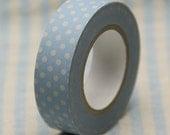 Japanese paper masking tape - Polka Dots Blue