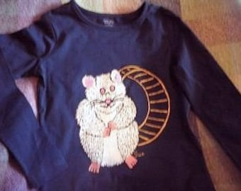 Standing Hamster Shirt, Choose Your Own Color