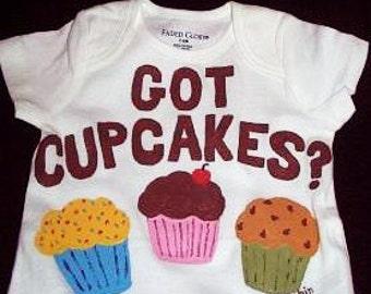 Baby Cupcake Bodysuit, Got Cupcakes Baby One Piece, Birthday Cupcake Trio
