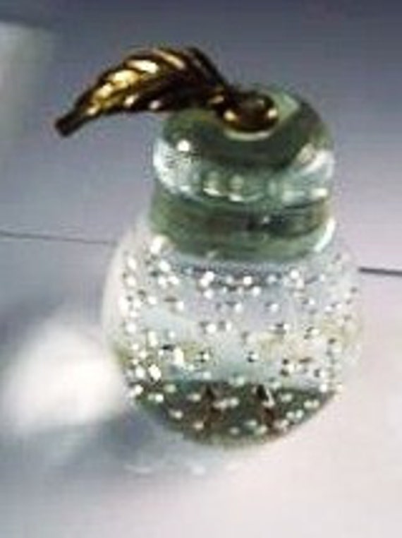 Vintage Paperweight - Pear Shaped Clear Glass - Ready to Ship