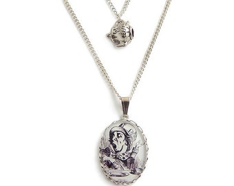 The Mad hatters TEA Time Alice in Wonderland necklace  Choice of TEAPOT or TEACUP charm