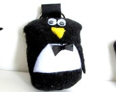 tux - the little penguin -  backpack buddies - a plush zipper pull