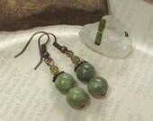 green AVENTURINE earrings NicKLe free