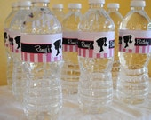 DIGITAL Pretty in Pink Vintage Barbie Water Bottle Labels - Fits Large or Small Bottles