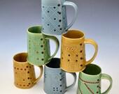 Big Coffee Mug in Warm Honey Gold Glaze