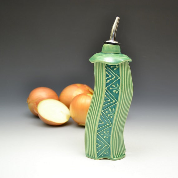 Handmade Whimsical Oil Bottle or Vinegar Bottle