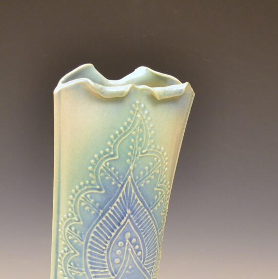 Soft Blue Green Vase