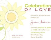 Spring Sunflower Bridal Shower invites for scalla40