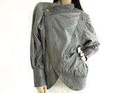 Vintage 1980s Grey Casa Lopez Michael Jackson Leather Jacket