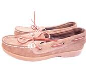 Vintage Foot Steps Tan Boat Shoe