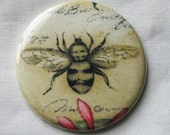 reserve listing for Lisa Mills 30 pin back buttons old fashioned bee fabric covered 2.25 inch
