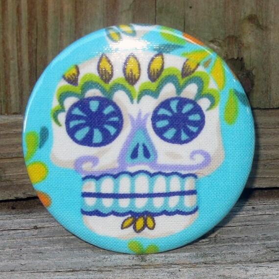 bottle opener Day of the Dead Sugar Skull turquoise blue