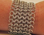 Lacy Chainmaille Bracelet Feels Like Liquid Metal Or Can Be Made As A Choker