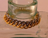 Chainmaille Bracelet In Yellow EPDM And Aluminum Rings Stretchy So No Clasp Is Needed Fun And Cand Be Made In Many Colors