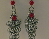 Earrings Eye of the Dragon Chainmaille
