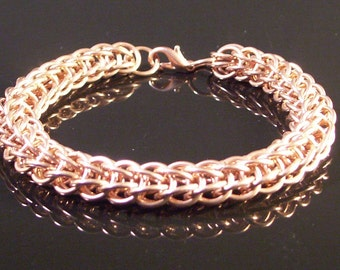 Copper Bracelet Chainmaille Weave For Males And Females