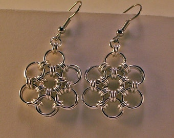 Japanese 12 In 2 Aluminum Chainmaille Earrings
